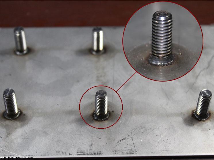 拉弧式短周期螺柱焊正面效果